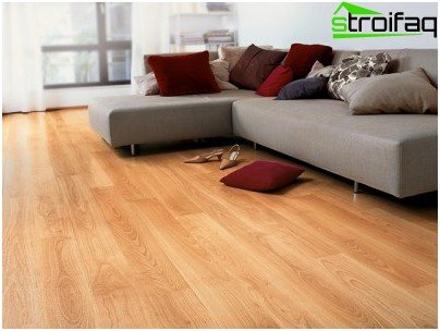 Laminate flooring in the interior