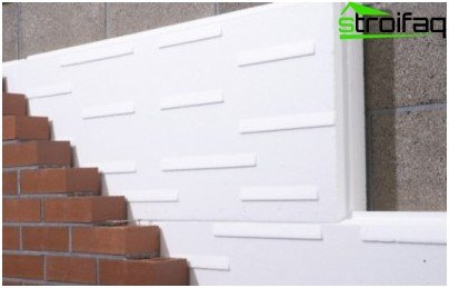 expanded polystyrene foam as insulation of external walls
