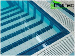 Tiles for facing swimming pool