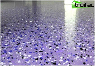 The polymer flooring