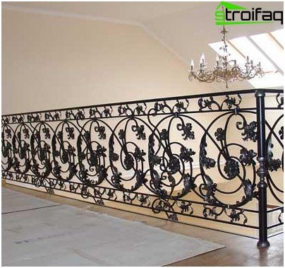 Classic forged railings