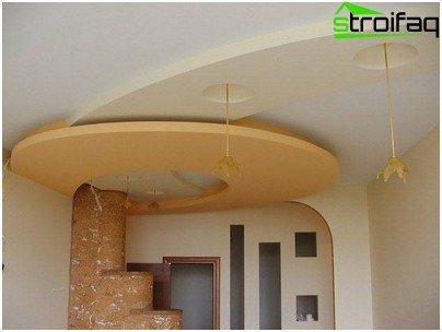 Unusual plasterboard hallway