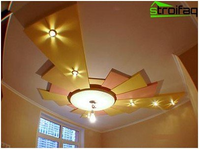 Using geometric shapes on the ceiling