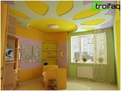 The decor in the form of a bright flower children's room