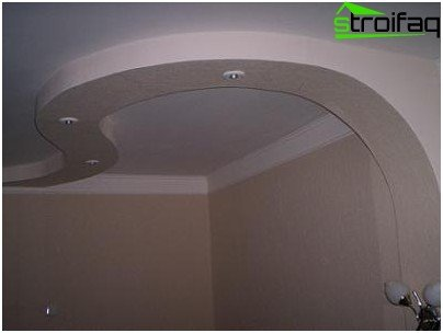 Design of multi-level ceiling in the bathroom