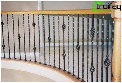 New lines and shapes modern forged balusters as the embodiment of the ancient tradition of the ladder construction