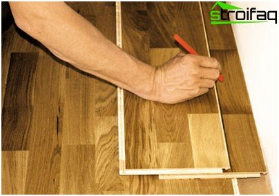 Laying floorboard