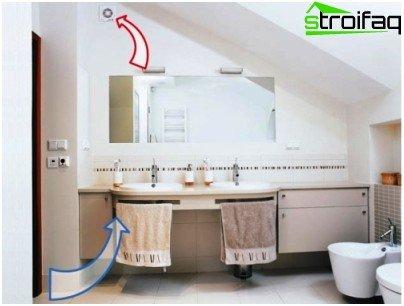 Una corretta ventilazione in bagno le disposizioni di base e la