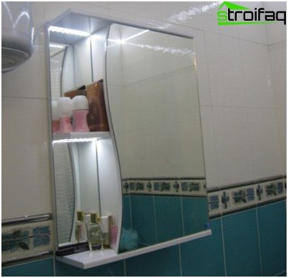 Highlighting the mirror cabinet