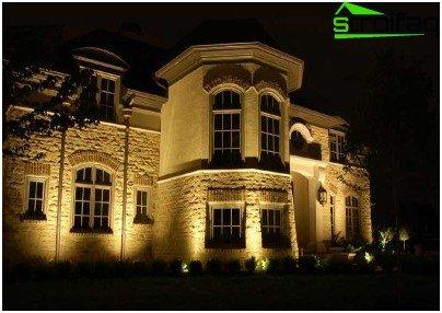 Voorbeelden van architecturale verlichting van gebouwen en particuliere woningen leds - Buitenverlichting gevelhuis ...