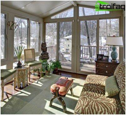 glazed veranda