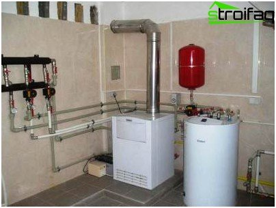 Design of gas supply: boiler room must be finished with non-combustible materials