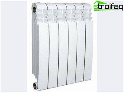 Bimetallic radiator