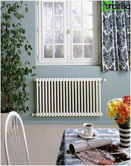 Cast iron radiators are large