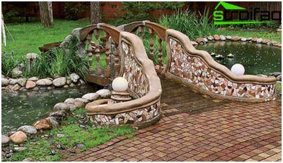 bridge in the garden with his own hands