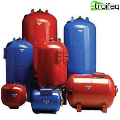 Expansion tank for water supply and heating systems