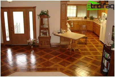 For parquet needs care