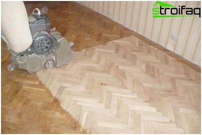 Renovation of the old parquet