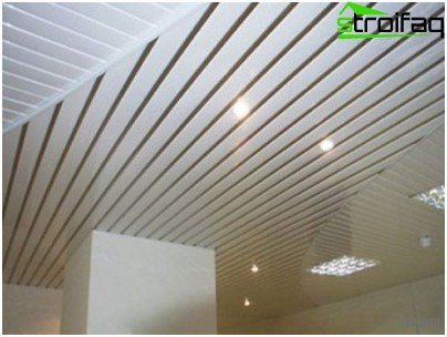 Open suspended ceilings