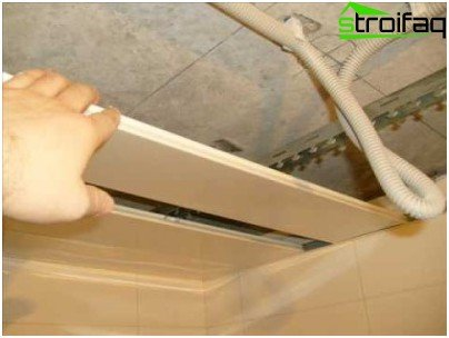 Installation of ceiling rails