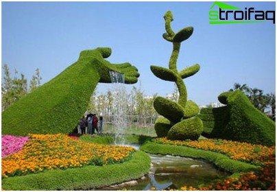 topiary figure