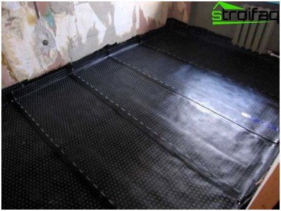 Waterproofing ruberoid