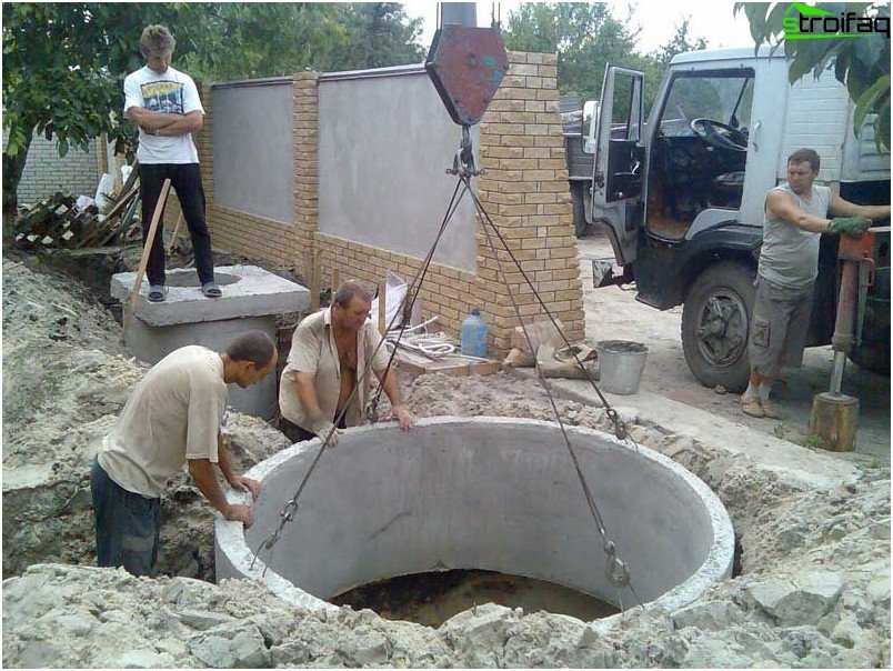 construction of concrete septic tank