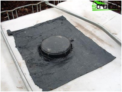 A layer of waterproofing