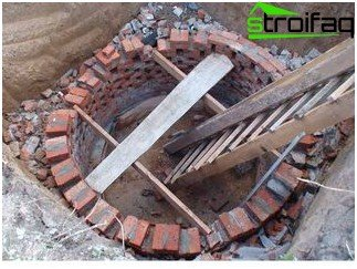 Drain pit of brick