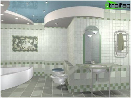 Make significant emphasis in the bathroom - for example, choose a tile with an interesting picture!