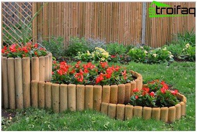 fence for flowerbeds