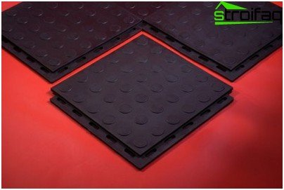 Modular rubber flooring for the gym