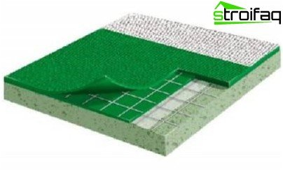 The device sports flooring PVC