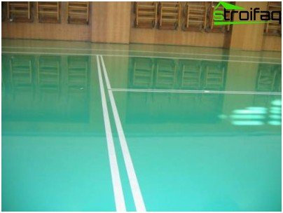 an example of the inlet floor for the gym