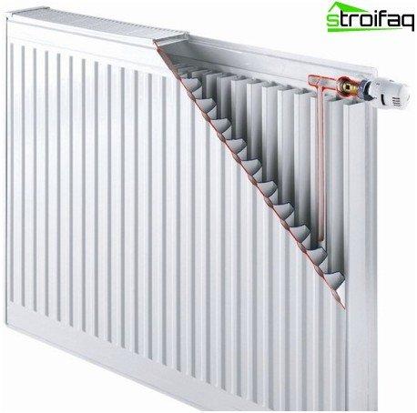 Steel panel radiator