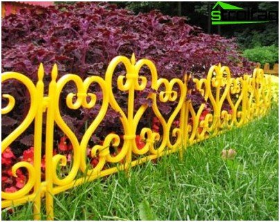 fence for flower beds