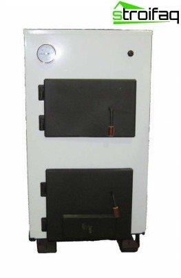 Dvuhtopochny solid fuel boiler