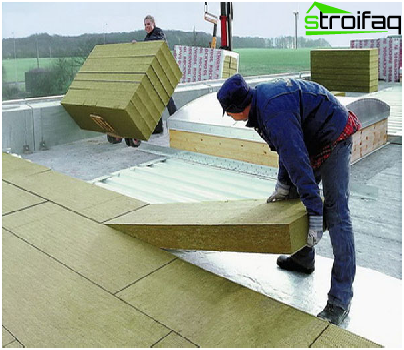 Insulation of flat roofs