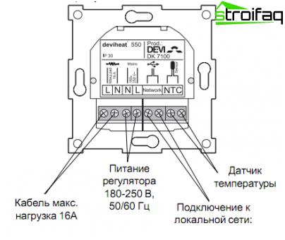 termostato para calefacci u00f3n por suelo radiante  diagrama