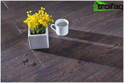 Finish flooring solid wood