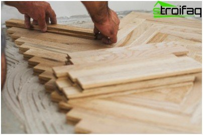 How to put a piece parquet