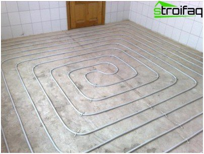 How to calculate the pipes for floor heating