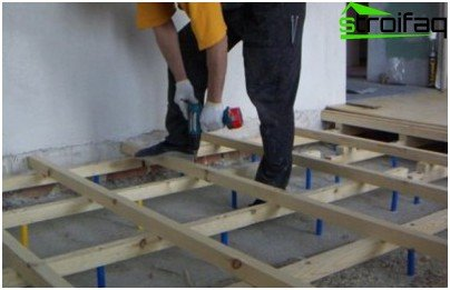 Raised floors on joists