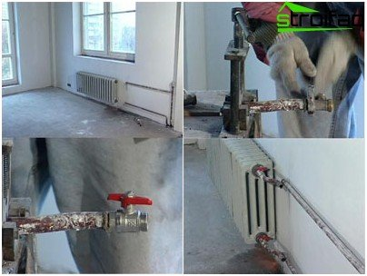 Installation of a radiator own hands