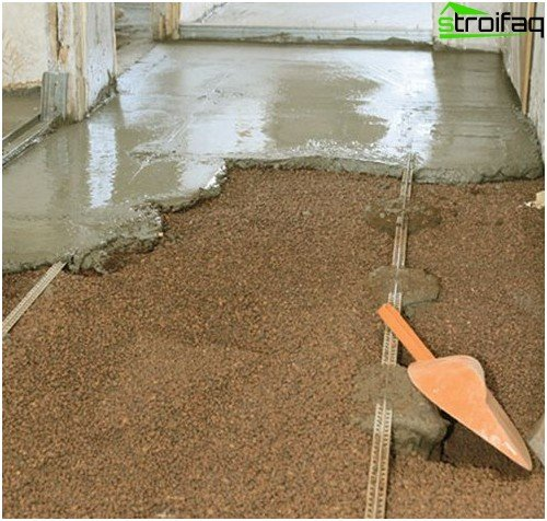 Pouring concrete floor solution