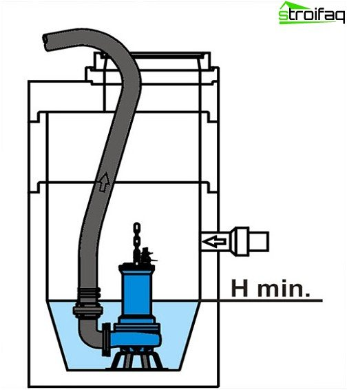 Submersible fecal pump (layout)