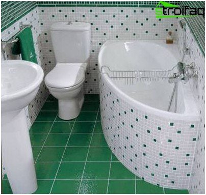 Bathroom design of small size