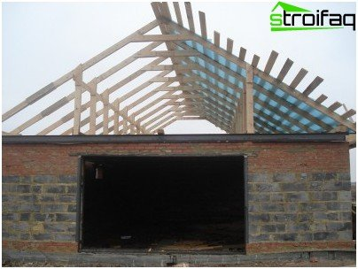 Installation of a garage roof