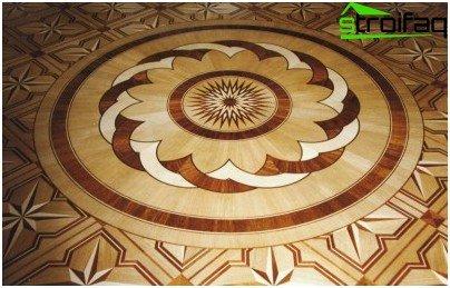 Rosette parquet floor