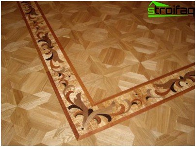 Border for parquet floor